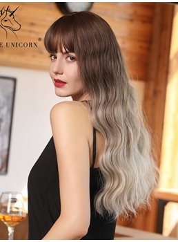 Women's Big Curly Long Length 130% Density Synthetic Hair Wigs Rose Capless Wigs 24Inches