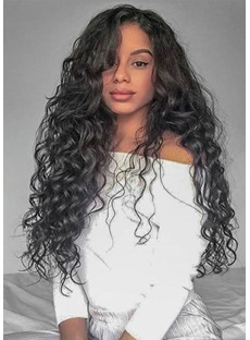 Lace Front Wig Loose Wave Guleless Human Hair Wigs For Black Women 120% Density with Baby Hair Natural Color 26 Inch