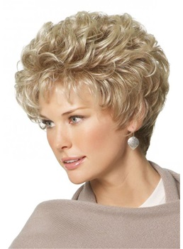 Short Pixie Choppy Cut Synthetic Hair Wavy Women Wigs 10 Inches