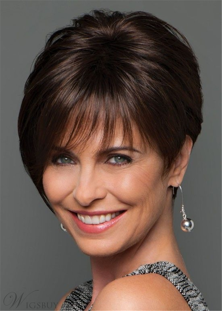 Short Cut Natural Straight Human Hair Wig 10 Inches