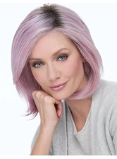 Pink Hair Color Bob Type Synthetic Hair Straight Women Wig 14 Inches