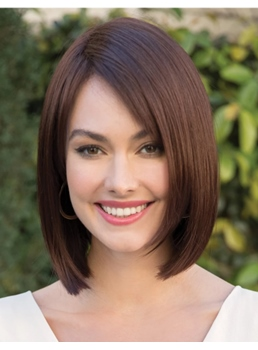 Mediumn Bob Hairstyle Synthetic Hair Straight Women Wig 12 Inches