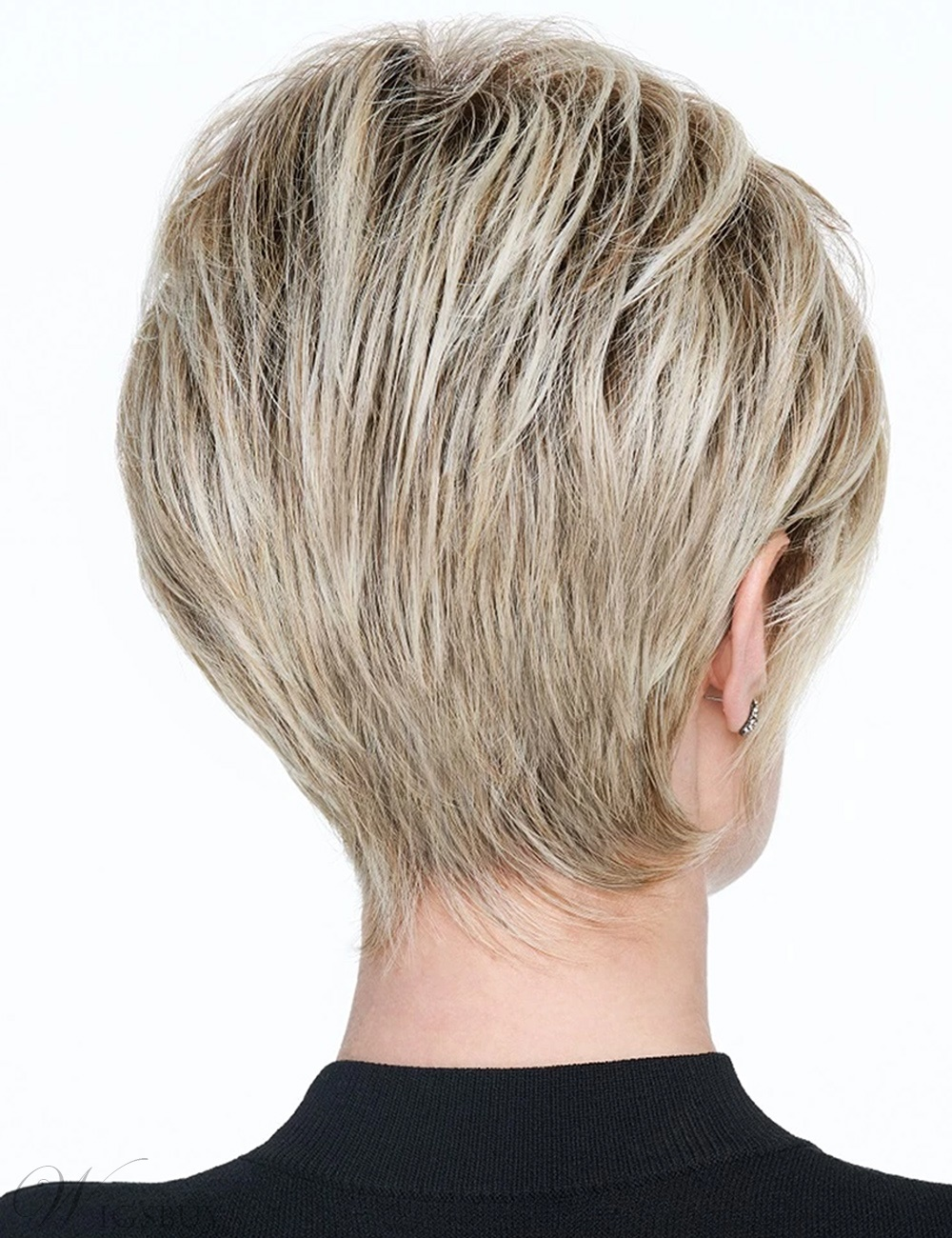 Short Pixie Cut Hairstyle Synthetic Straight Women Wigs 8Inches