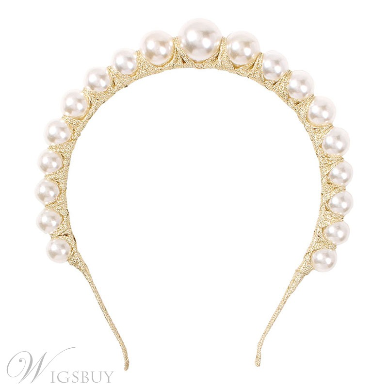 European Style Women/Ladies Prom Engagement Wedding Party Birthday Pearl Inlaid Hairband