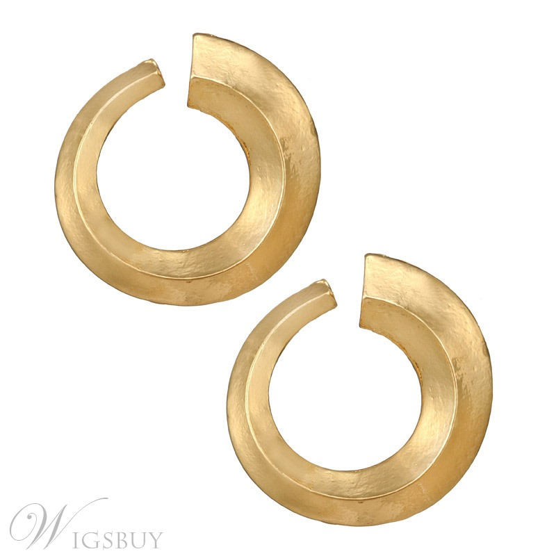 Wedding/Party/Birthday European Style Alloy Plain E-Plating Hoop Earrings For Women/Ladies