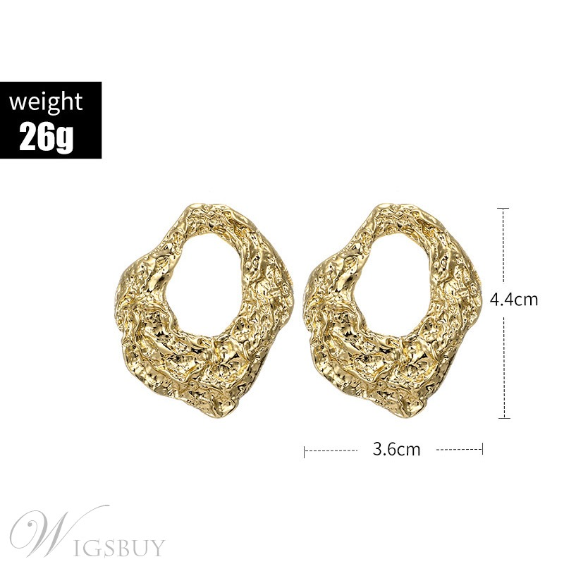 Women/Ladies European Style Alloy Plain E-Plating Stud Earrings for Anniversary/Wedding/Party/Birthday/Gift/Holiday