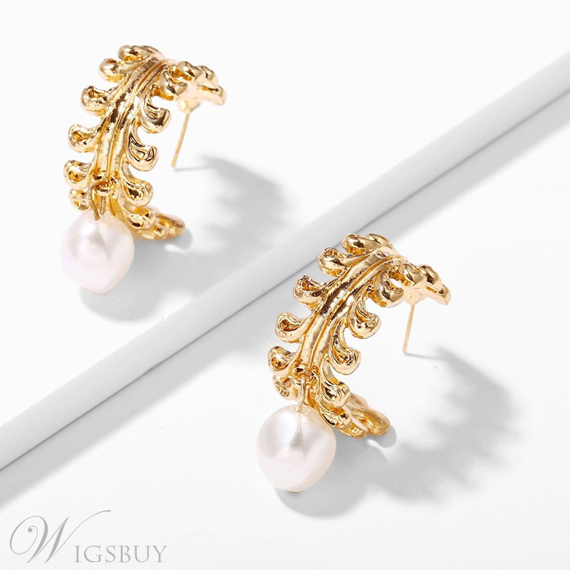 Lady/Women's Wedding Earrings European Style Alloy E-Plating Drop Earrings for All Suitable Occasion