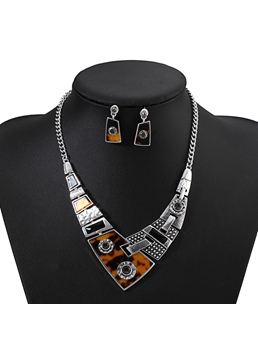 Wedding/Party Women's Vintage Alloy E-Plating Necklace Sets With Earrings
