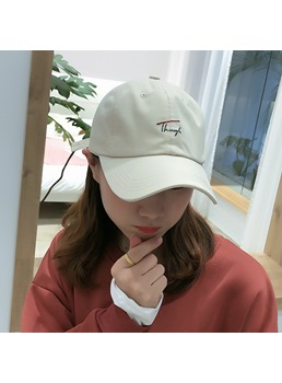 Fashion unisex Men/women's Cotton Embroidery Baseball Cap Adjustable Short Brim Dome Letter Hats For All Season