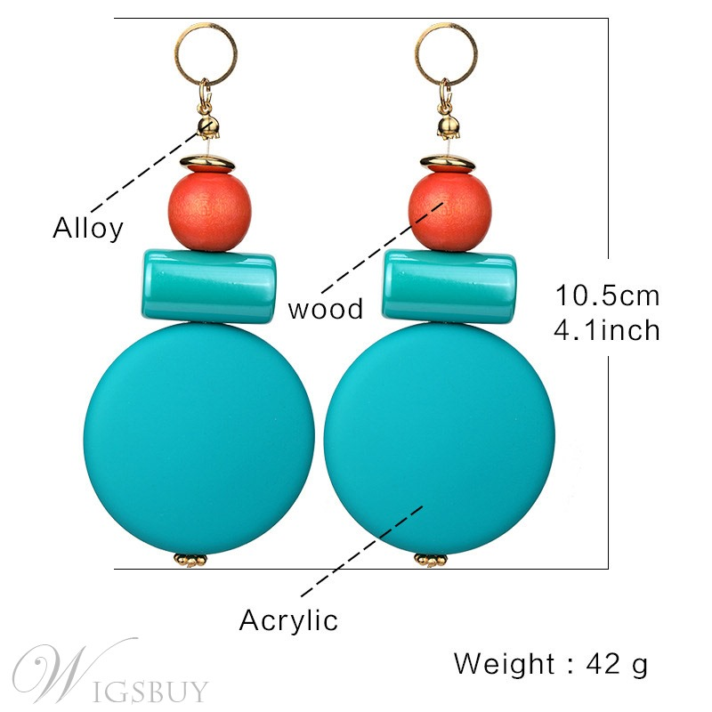 European Style Women/ladies Water Drop Plastic E-Plating Drop Earrings For Prom/Anniversary/Wedding/Party/Birthday/Gift/Holiday