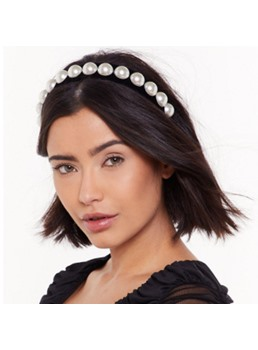 Lady/Women's European Style Pearl Inlaid Technic Cotton Hairband Hair Accessories