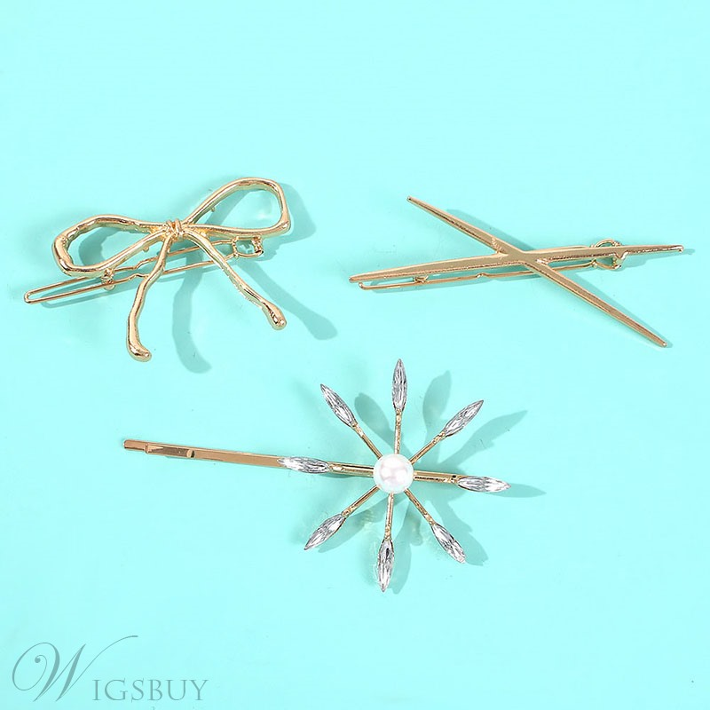 European Style Women/Ladies Alloy E-Plating Barrette Hair Accessories