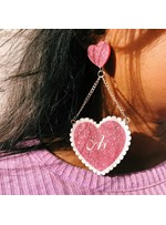 Vintage Heart-Shaped Letter Pattern FemaleDrop Earrings