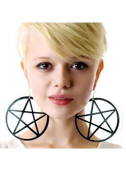 Distinctive Hollow Out Shape Star Pattern Drop Earrings