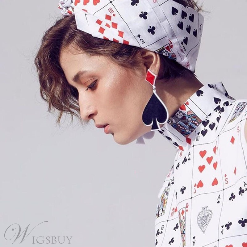 European Style Color Block Female Drop Earrings