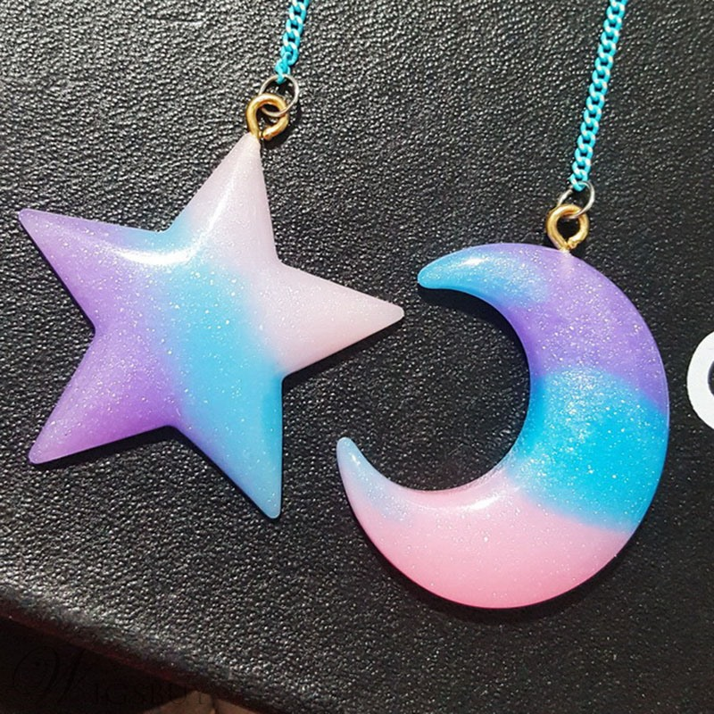 Exquisite Starry Sky Pattern Women Drop Earrings