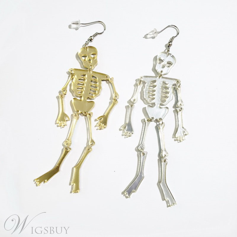 Flamboyant Style Skull Pattern Female Drop Earrings