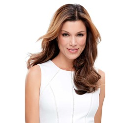 Luxurious Womens Smooth Wavy Long Layered Synthetic Hair Wigs Natural Looking Lace Front Wigs 22Inch