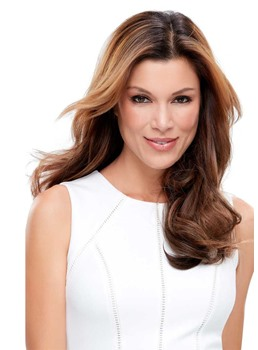 Luxurious Women's Smooth Wavy Long Layered Synthetic Hair Wigs Natural Looking Lace Front Wigs 22Inch
