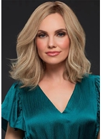 Women's Versatile Shoulder Length Bob Wavy Hairstyles Lace Front gloriously Natural Human Hair Wig 12Inch