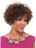 Women's Short Pixie Cut Human Hair Curly Wigs Lace Front Cap Wigs With Bangs 10Inch