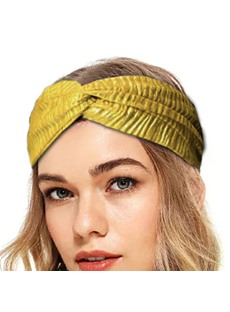 New Ladies Handmade Sports Candy Color Wide-brimmed Headband Cloth Plain Hairband