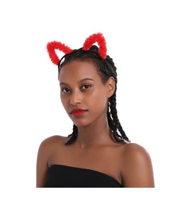 Adults&Children Unisex Lovely Ssweet Plush Cat Ears Headband Party Show COS Hairband