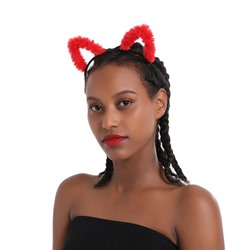 Adults & Children Unisex Lovely Ssweet Plush Cat Ears Headband Party Show COS Hairband