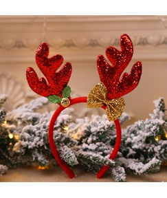 Christmas Decorations New Antlers Head Buckle Long Antler Children's Holiday Show Christmas Headband