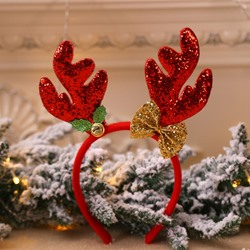 Christmas Decorations New Antlers Head Buckle Long Antler Childrens Holiday Show Christmas Headband
