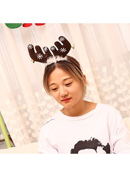 Christmas Feather Bells Big Antlers Christmas Headbands Head Buckle Hairpins Christmas Party Hairband