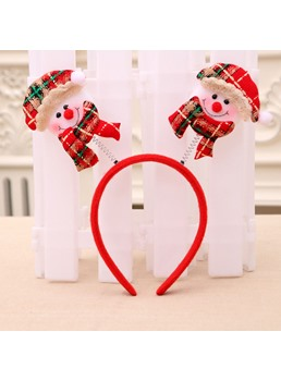 Christmas Decorations Unisex Cartoon Pattern Cloth Children's Gift Hairband For Party