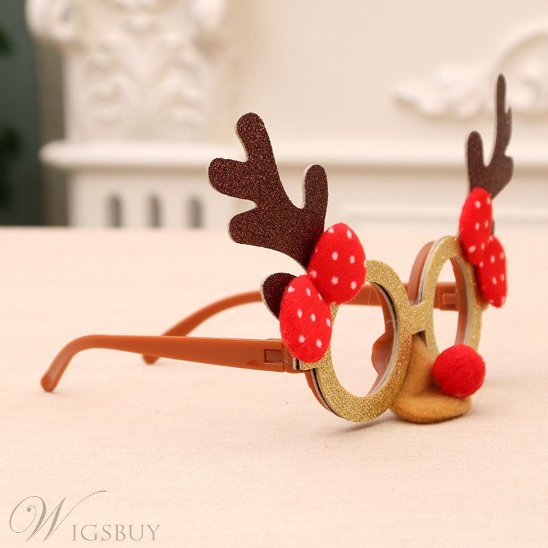 Christmas Children Holiday Party Creative Gift Toys Small Gifts Cartoon Antlers Glasses