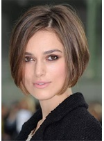 The Midi Bob Short Synthetic HairStraight Lace Front Cap Wig 12 inches
