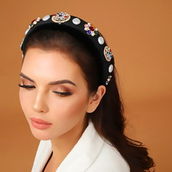 Adult Womens Vintage Style Cloth Diamante Hairband For Prom/Anniversary/Wedding/Party/Birthday/Gift