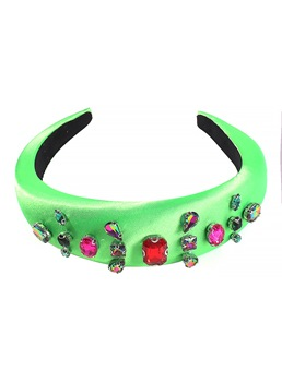 European Style Lady/Women's Diamante Technic Cloth Hair Accessories Hairband