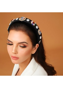 Adult Women's Vintage Style Cloth Diamante Hairband For Prom/Anniversary/Wedding/Party/Birthday/Gift