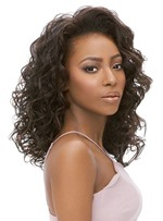 Women's Medium Hairstyles Kinky Curly Human Hair Wigs Culy Lace Front Wigs 18Inches