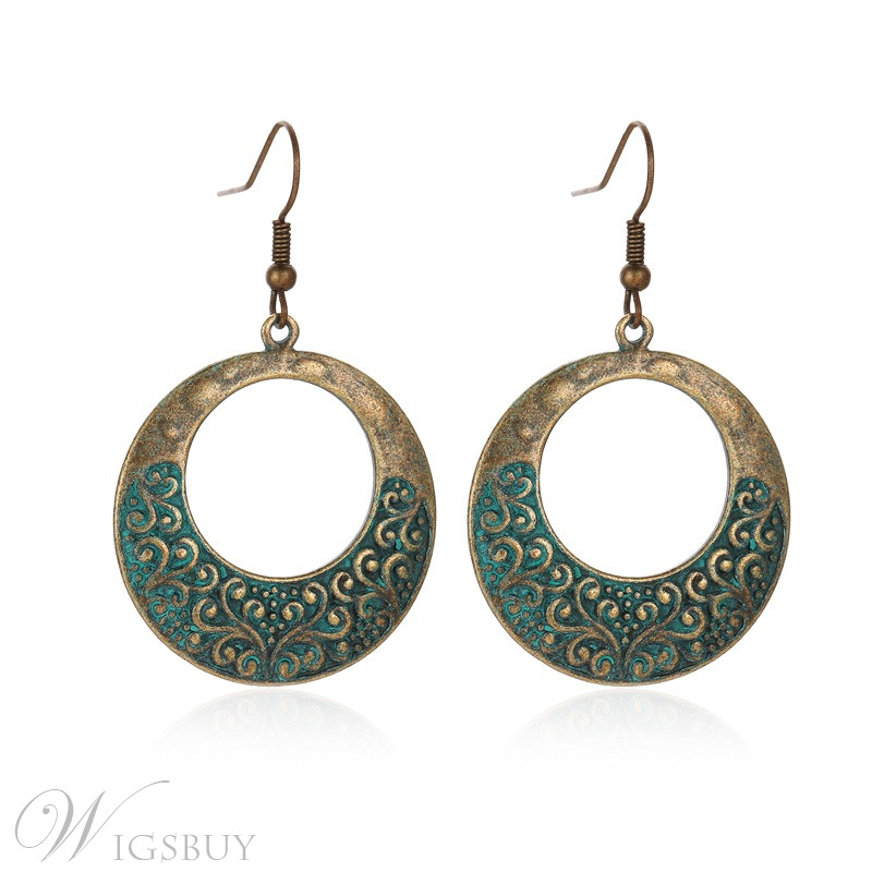 Wedding Adult Women's Alloy E-Plating Vintage Style Drop Earrings