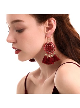 Bohemian Style Women's Hollow Out Technic Alloy Drop Earrings For Prom Anniversary Wedding Party Birthday Gift Holiday