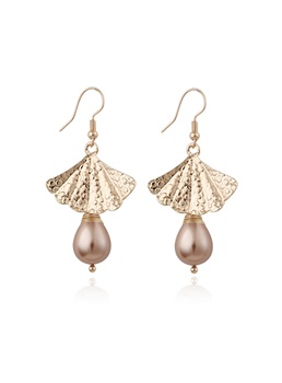 Wedding Party Women's Sweet Style E-Plating Technic Alloy Drop Earrings