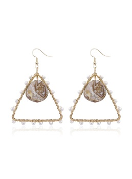 Anniversary Wedding Birthday Party Women's European Style Handmade Bronze Drop Earrings