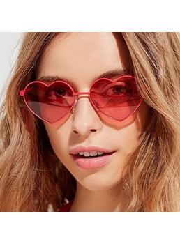 Fashion Style Audlt Women's Metal Frame Material Resin Lens Wrap Shape Sunglasses 7 Colors