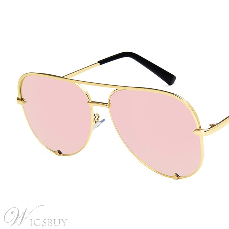 Women/Men's Adult Unisex Fashion Style Metal Frame Material Resin Lens Wrap Shape Sunglasses 6 Colors