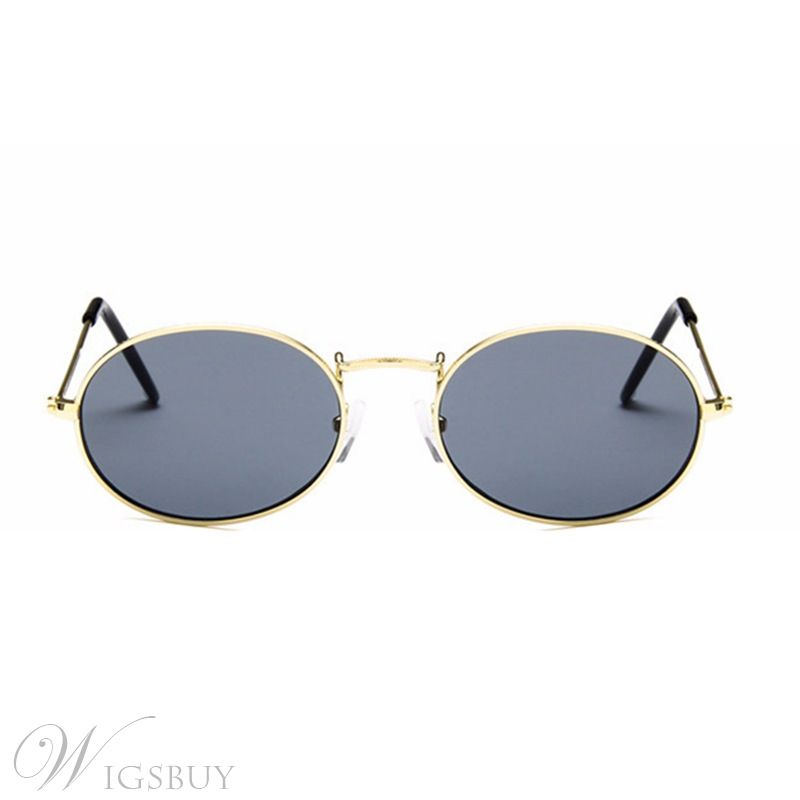 Fashion Style Women/Men's Unisex Metal Frame Resin Lens Oval Shape Sunglasses For Adult 6 Colors