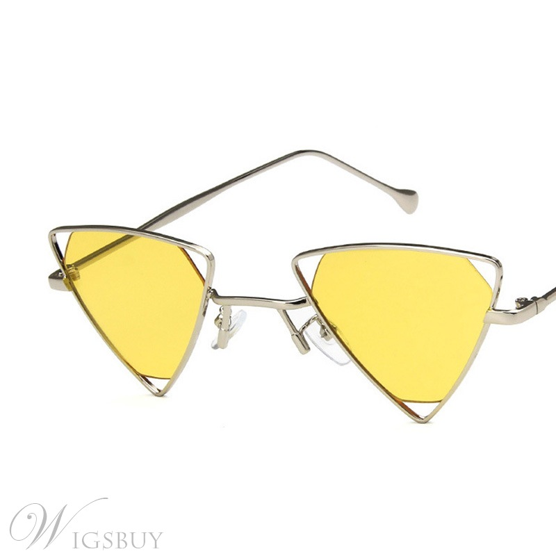 Vintage Style Audlt Unisex Women/Men's Metal Frame Material Resin Lens Wrap Shape Sunglasses 5 Colors