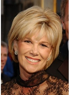 Short Bob Hairstyle Blonde Color Side Part Synthetic Hair Wigs For Women Natural Straight Capless Wigs 10Inch
