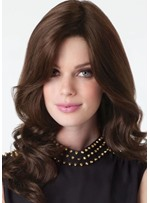 Women's Long Wavy Middle Part Hairstyles Natural Looking Synthetic Hair Capless Wigs 22Inch