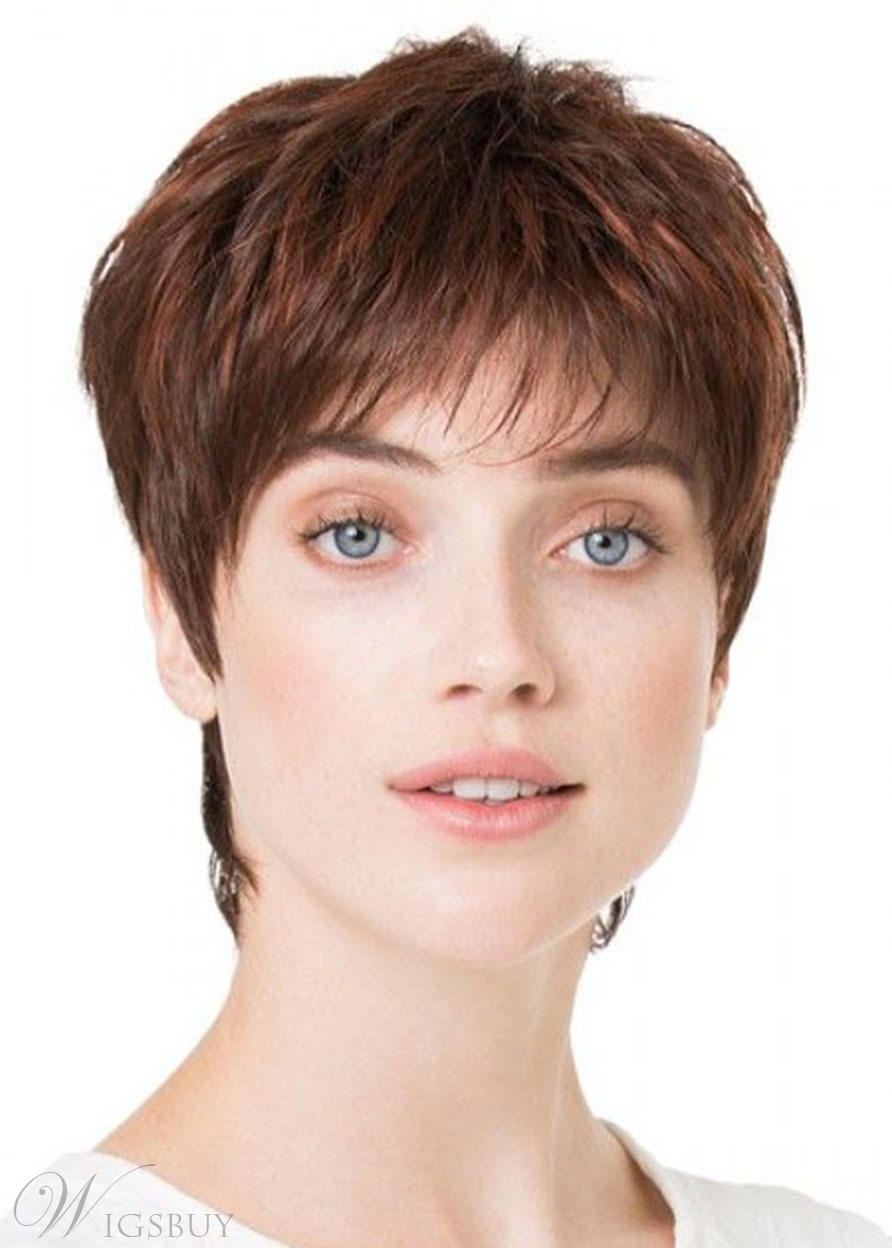 Pixie Cut Short Shaggy Hairstyles Women's Short Straight Synthetic Hair Wigs Boy Cut Capless Wigs 6Inch