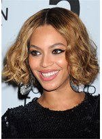 Beyonce Hair Cut Synthetic Hair Curly Women Wig 12 Inches
